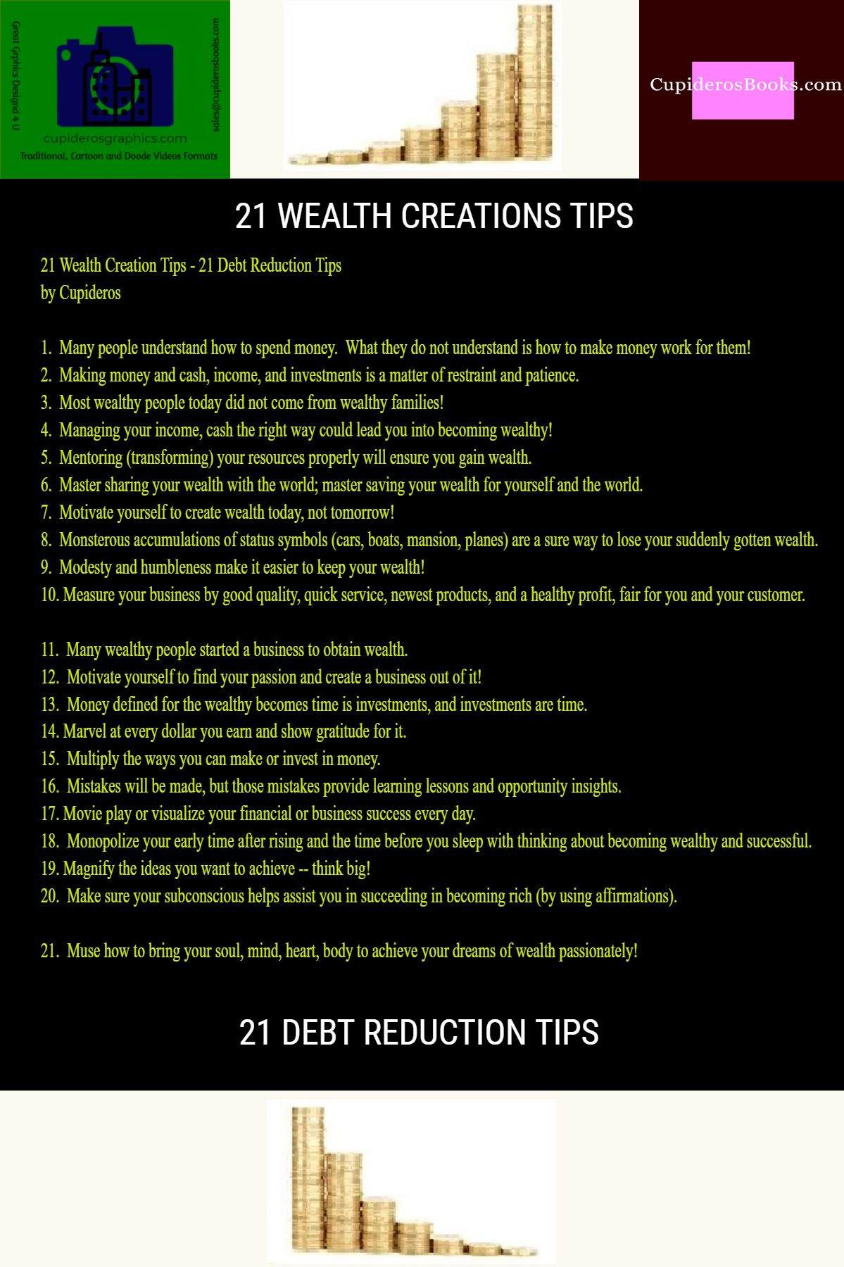 21 Wealth Creation and Debt Reduction Tips