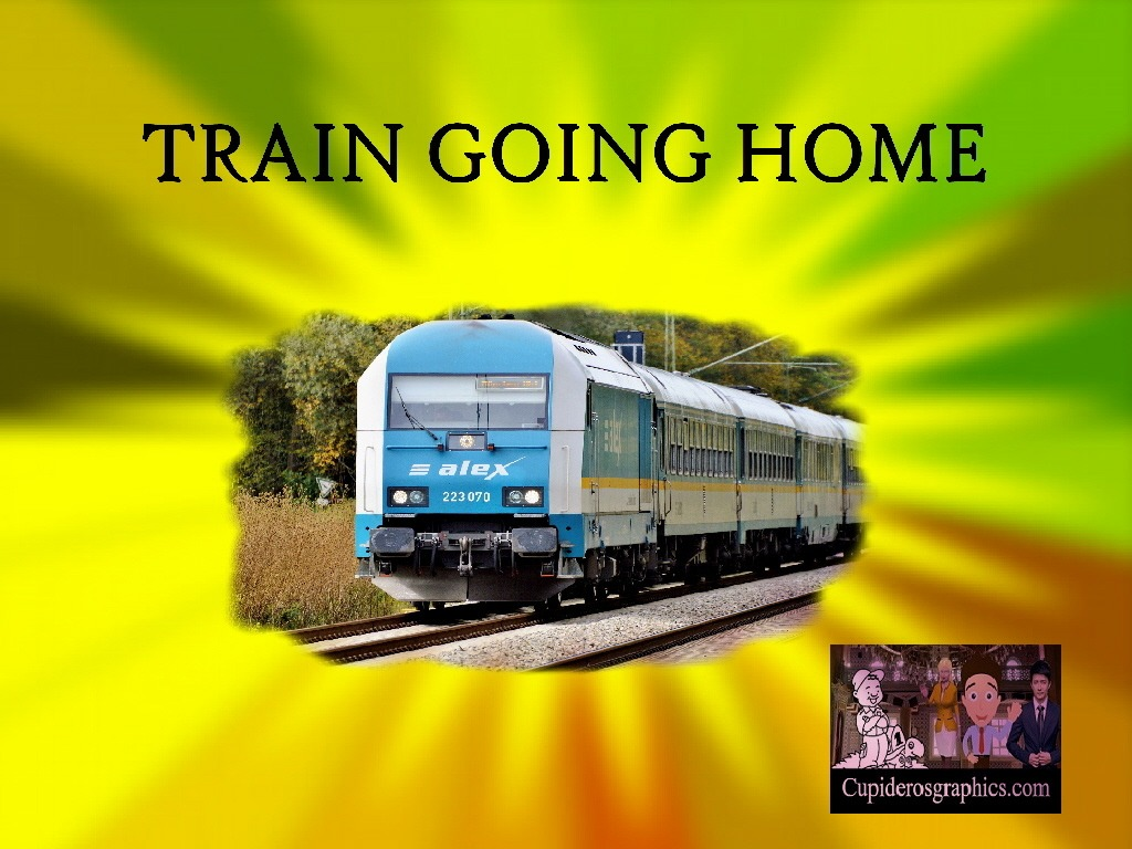 Train Going Home (Fancy Pictures)