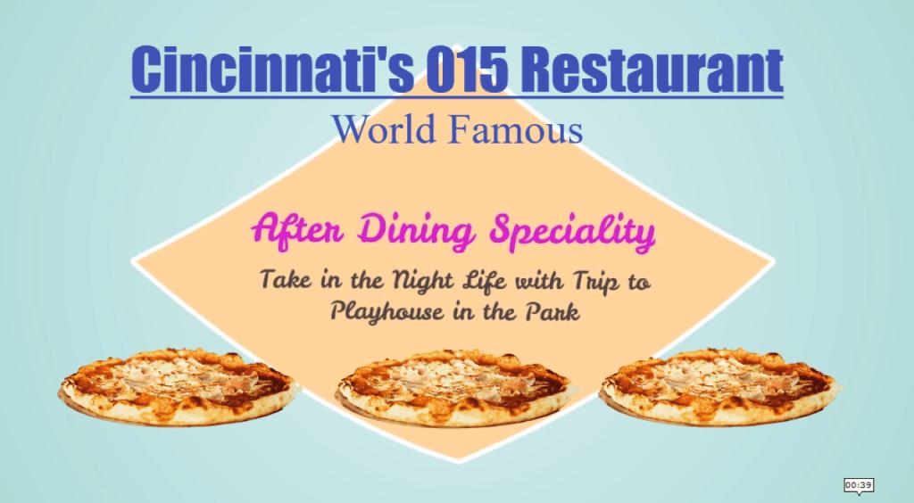 Cincinnati's World Famous 015 Restaurant