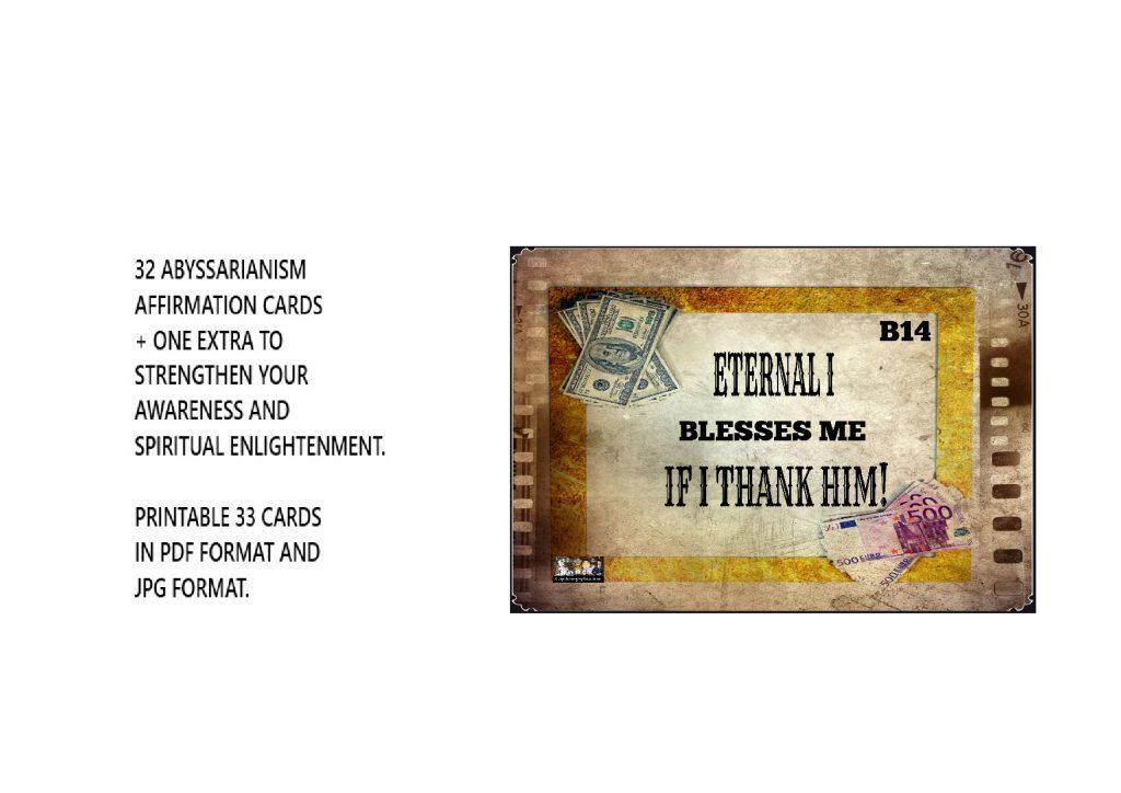 Eternal I's Blessing Cards